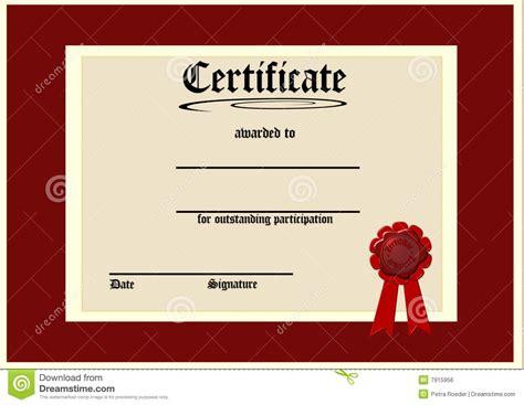 cer van layout leeg certificaat stock illustratie afbeelding bestaande
