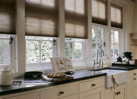 Kitchen Blinds Duette Blinds In A Beige Brown Kitchen Fuller Decor