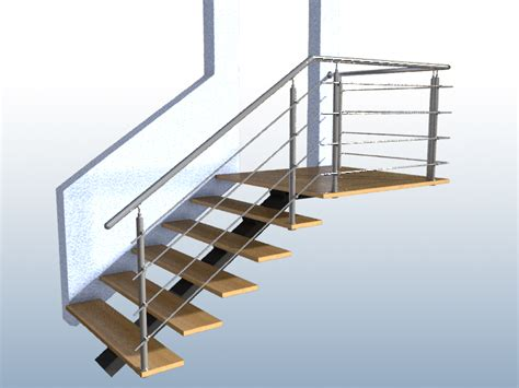 handlauf treppe gel 228 nder treppe mit podest und abschluss mit edelstahl