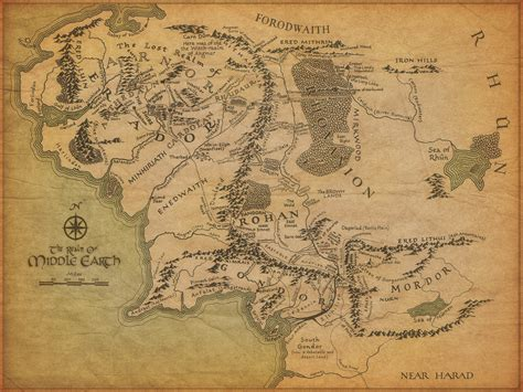 middle earth map the lord of the rings map of middle earth