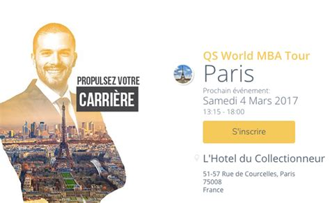Qs Top Mba 2017 by Salon Qs World Mba Tour Frenchweb Fr