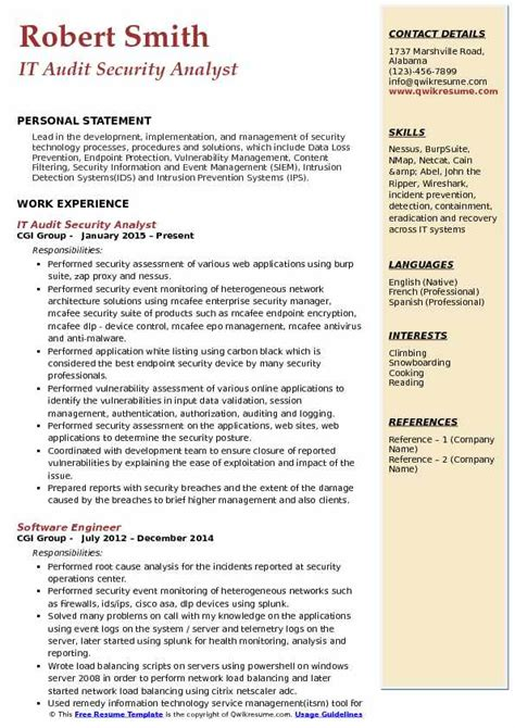 Audit Analyst Sle Resume by It Security Analyst Resume Sle 28 Images Self Employed Attorney Resume Sle 28 Images Self