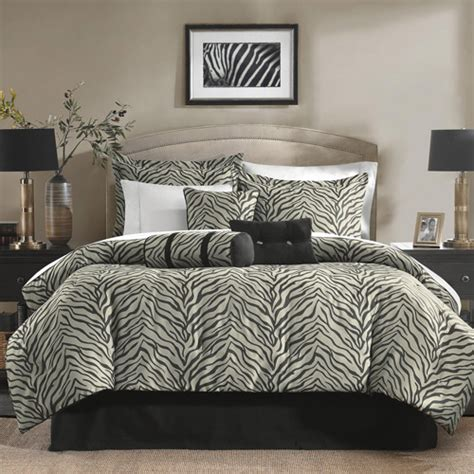 Zebra Bedding Set Zebra 7 Jacquard Bedding Comforter Set