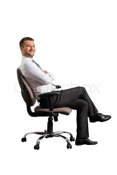 Sit In A Chair Or Sit On A Chair by Successful Sitting On The Office Chair Stock Photo