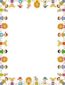 children border clip art page border and vector graphics