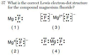 mg dot diagram regents chemistry explanations january 2004