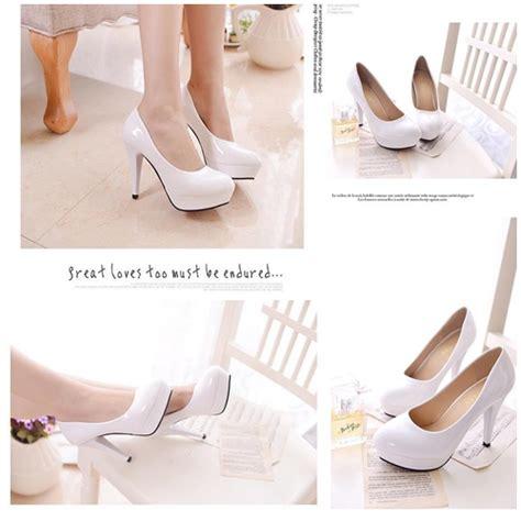 Sepatu High Heels Import 11cm White jual shhf1 white sepatu heels 10cm grosirimpor
