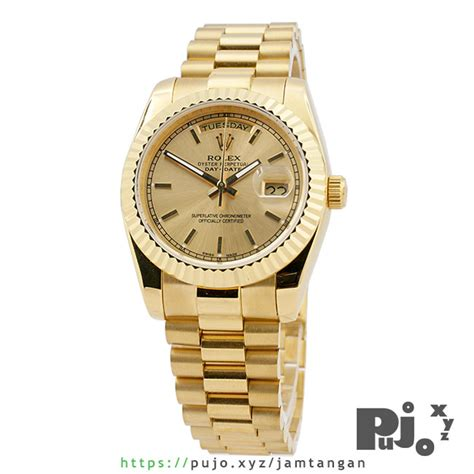 jual rolex president day date 40 yellow gold jam
