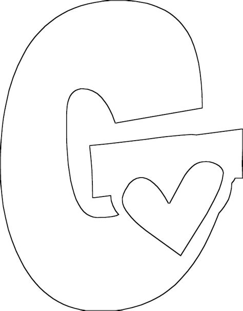 g color letter g coloring page