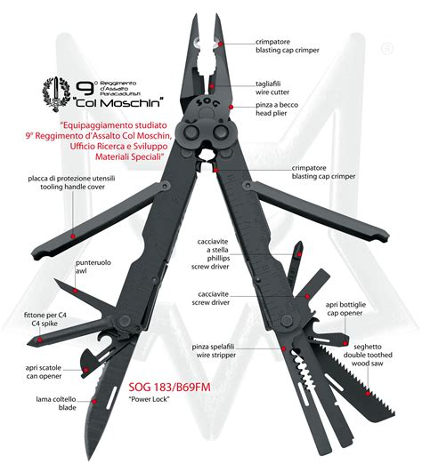 it multi tool multi tools quot col moschin quot quot power lock quot attrezzi multiuso