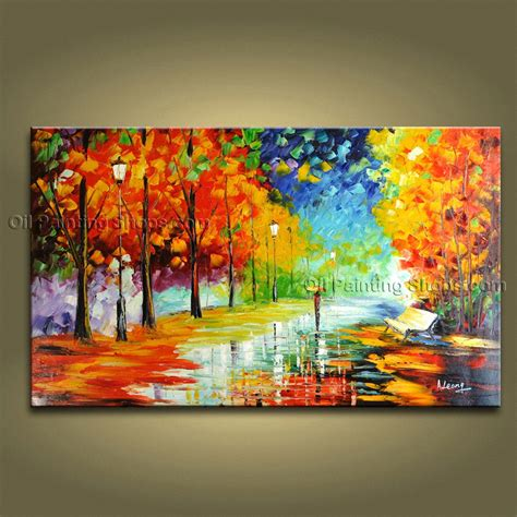 Handmade Nature Paintings - handmade contemporary wall landscape painting