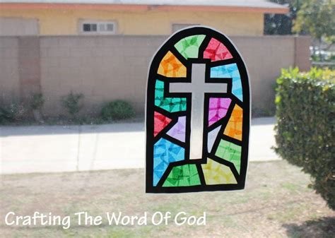Stained Glass Paper Craft - stained glass window sun catcher 171 crafting the word of god