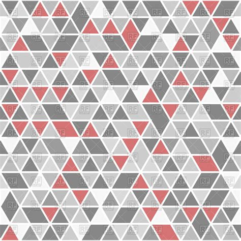 gray triangle pattern vector geometric pattern with red and gray triangles royalty free