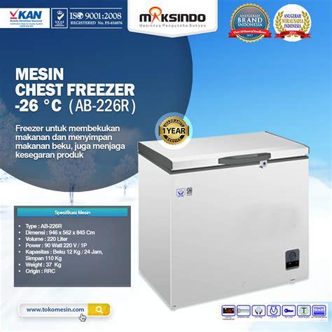 Freezer Untuk Makanan Beku mesin chest freezer 26 176 c toko mesin maksindo toko