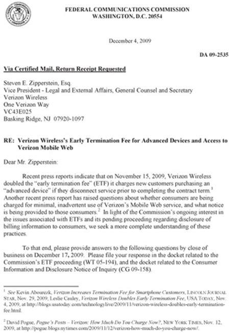 Verizon Credit Letter kabn fcc termination letter credit kabn fcc termination