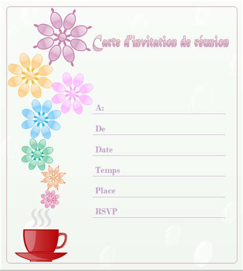 exemples et mod 232 les de carte d invitation