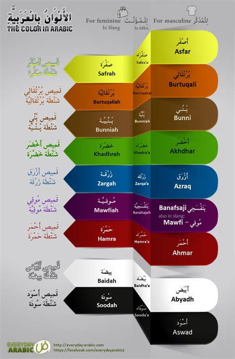colors in arabic everyday arabic