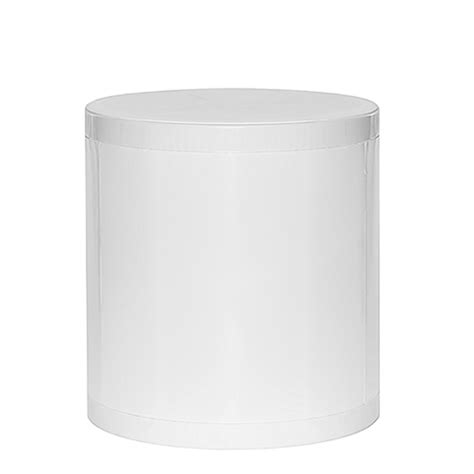 White Colored Stool In Adults by Otto Storage Stool Solid White