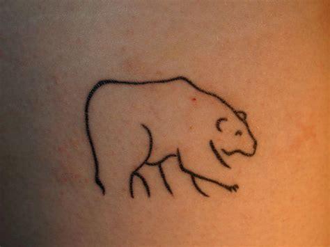simple bear tattoo simple line tattoos
