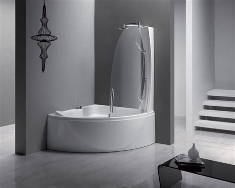 Corner Bath And Shower Corner Bathtub Shower Combination Decor Ideasdecor Ideas