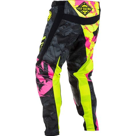 youth girls motocross new fly racing 2018 youth mx kinetic outlaw pink hi vis