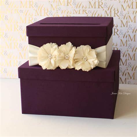 purple tiered wedding card box  gorgeous wedding card