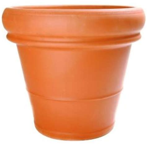 pennington 18 1 2 in terra cotta heavy rimmed clay pot