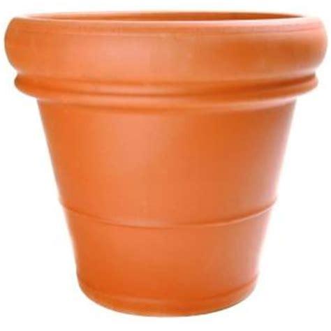 pennington 18 1 2 in terra cotta heavy rimmed clay pot