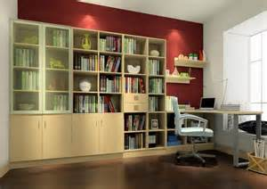 Room With Bookshelves Interior Design Of Study Room With Bookcase 3d House