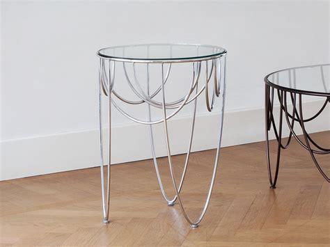 Table Basse Ronde En Acier by Table Basse Ronde En Acier Et Cristal Drapery Collection