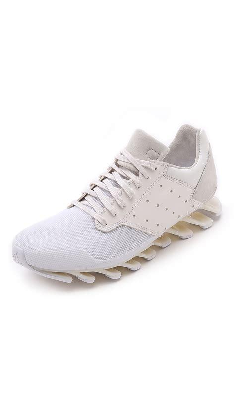 white rick owens sneakers rick owens x adidas rick owens springblade sneakers in