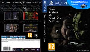 Fan made five nights at freddy s trilogy ps4 cover by playstation jedi
