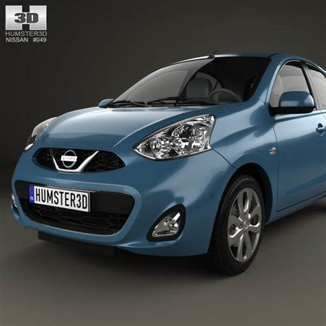 nissan micra 2014 nissan micra 2014 3d model humster3d