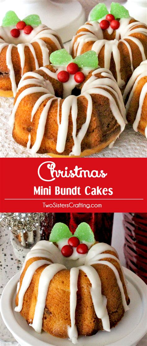 christmas mini bundt cakes two sisters crafting