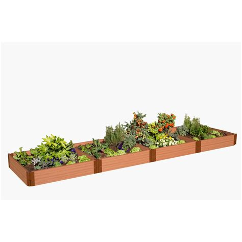 Frame It All Raised Garden Bed Kit Frame It All One Inch Series 4 Ft X 16 Ft X 11 In Composite Raised Garden Bed Kit 300001402