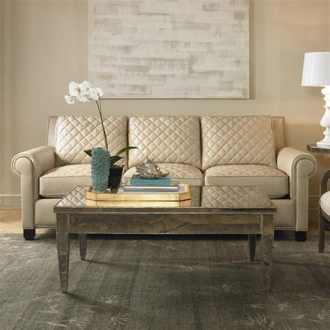 quilted leather sofa century leather upholstery quilted leather stationary sofa