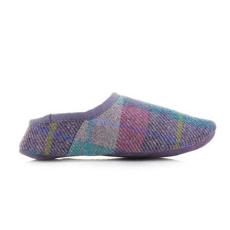 womens bedroom athletics edith lilac blue harris tweed