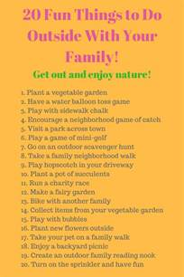 20 things to do outside with your family