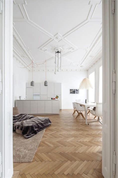 Hardwood Floor Apartment Inspiration Herringbone Chevron Wooden Floors The Style Files