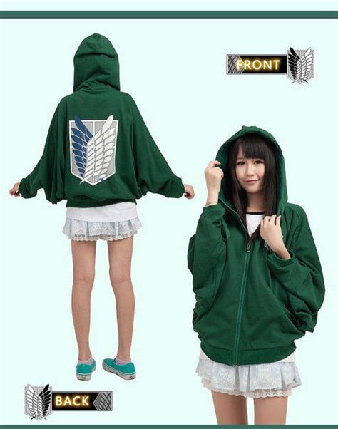 Promo Sweater Attack On Titan 3 attack on titan recon corps clothing hoodie unisex soft schiropter sweatshirt survey corps