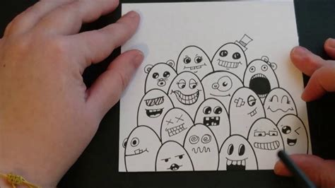 simple doodle for beginners with name easy doodle for beginners doodle monsters