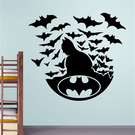 sticker wall decals batman with bats wall stickers decals