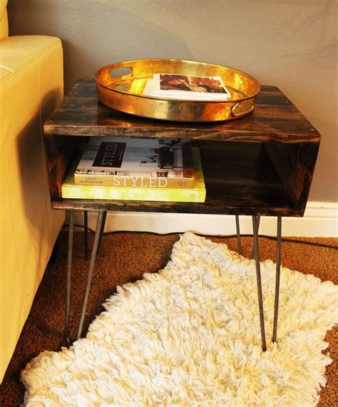 hairpin leg table diy diy hairpin leg side table