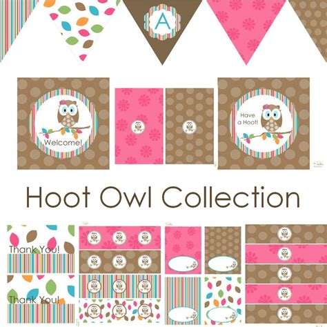 printable owl party decorations owl party decorations birthday party baby shower banner