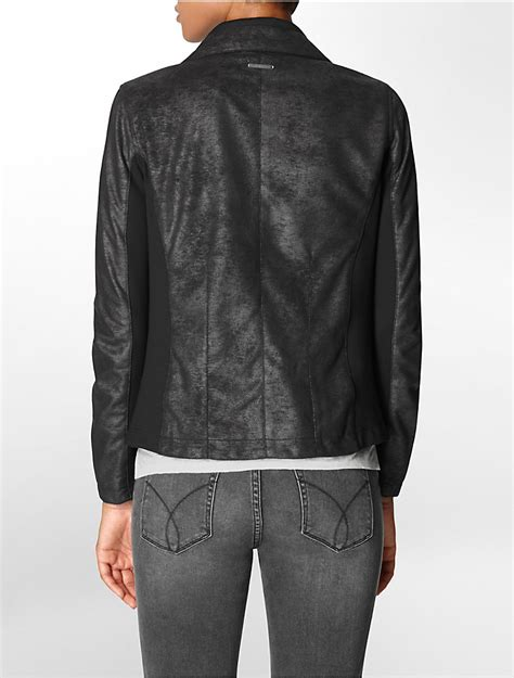 drape jacket womens calvin klein womens asymmetrical zip drape front jacket ebay