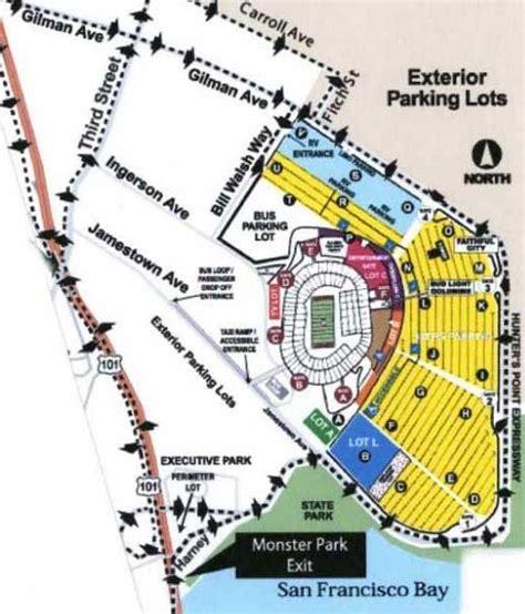 san francisco lot map stadium maps san francisco 49ers candlestick park 490