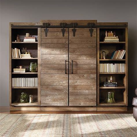 Baumann Media Center Arhaus Not Just A House A Home Barn Door Media Center