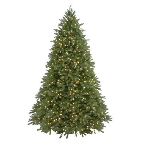 home depot real christmas tree 7 5 ft feel real jersey fraser fir artificial tree with 1250 clear lights pejf4 300