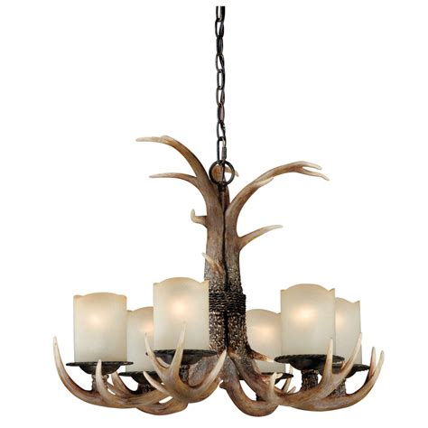 Antler Ceiling Light Cast Antler Chandelier 6 Light