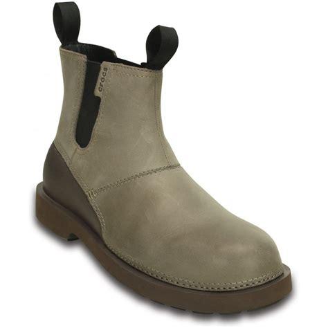 crocs boots mens crocs breck boot walnut espresso mens lightweight leather
